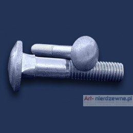 śruba M 5x16 DIN 603 A2 zamkowa nierdzewna