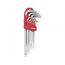 Zestaw kluczy Yato TORX długich security T10-T50, 9 CZ.