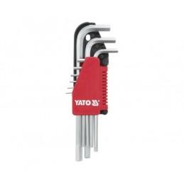Zestaw kluczy imbusowych długich HEX YATO 1,5-10mm, 9cz.