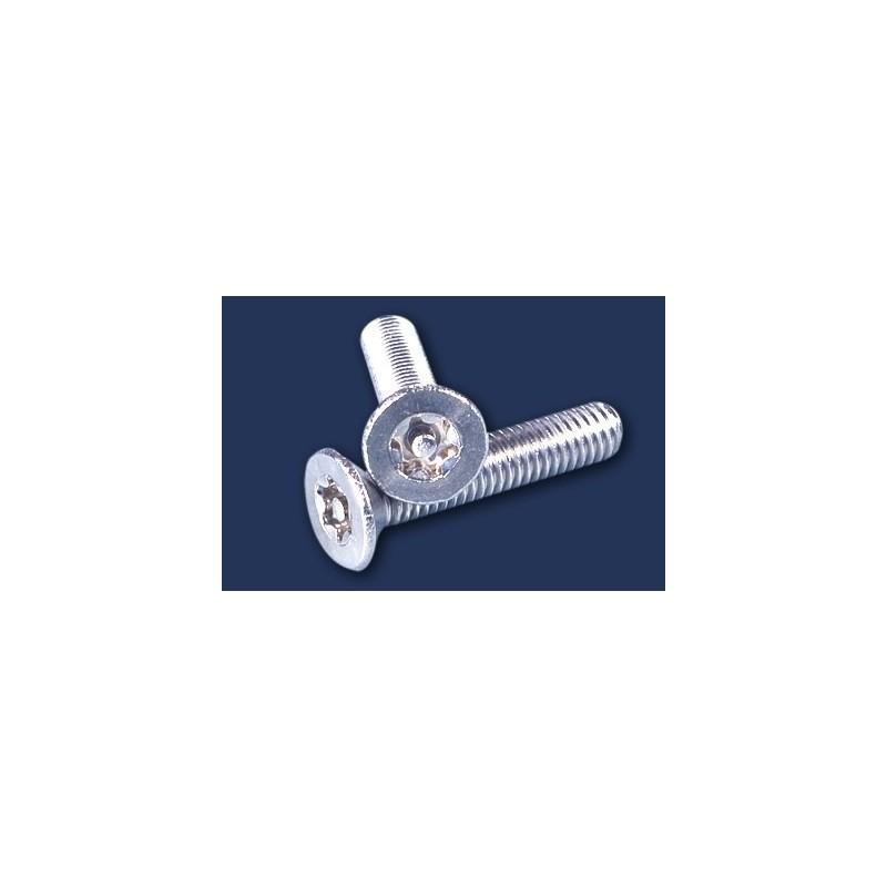 śruba  M 4x10 DIN 7991 security A2 stożkowa nierdzewna TORX-bolec