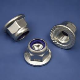Self-locking hexagon flange nuts DIN 6923 A2 inox